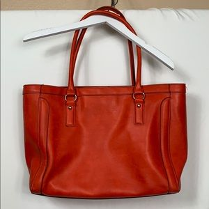 Merona burnt orange tote bag with 2 straps